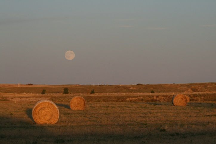 October harvest moon