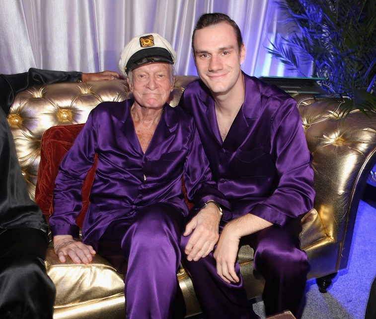 Hugh Hefner and Cooper Hefner