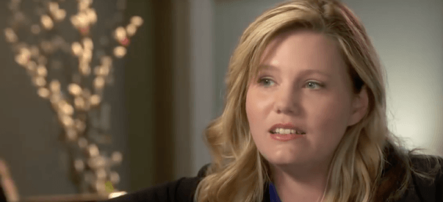 Jaycee Dugard during an on-camera interview.