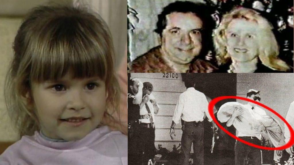 Images of Judith Barsi,, Judith's parents, and the crime scene