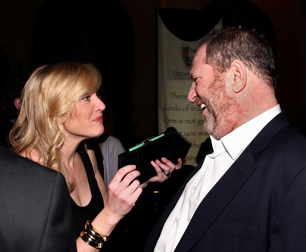 Actress Kate Winslet and producer Harvey Weinstein