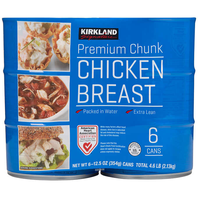 Kirkland Signature canned chicken breast