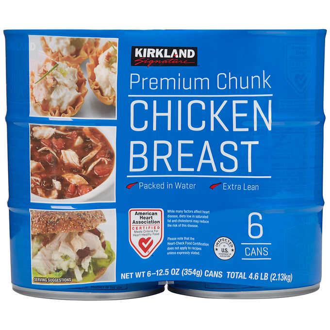 Kirkland Signature canned chicken breast