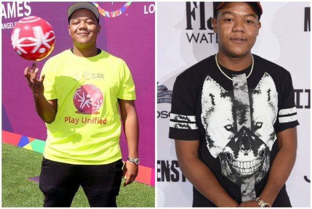 Kyle Massey's weight loss comparison in collage.