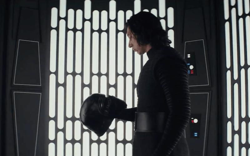 Kylo Ren in Star Wars: The Last Jedi
