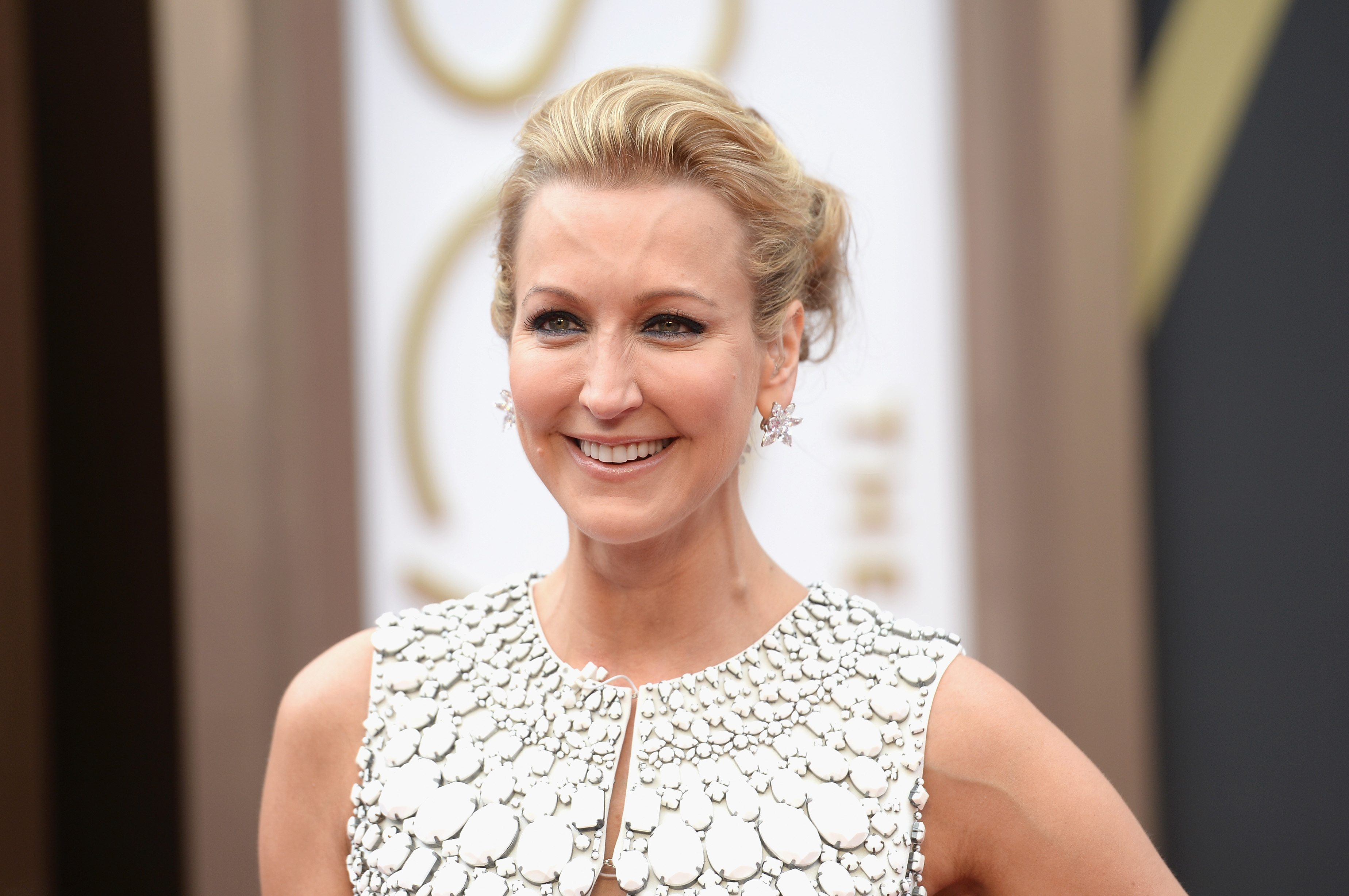 TV Personality Lara Spencer attends the 2014 Oscars.