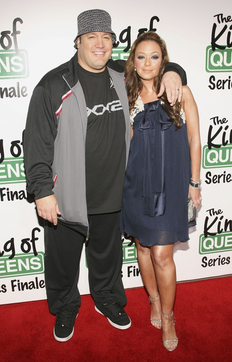 Kevin James and Leah Remini