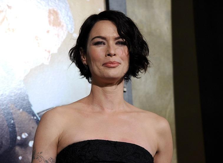 Actress Lena Headey at a premiere.
