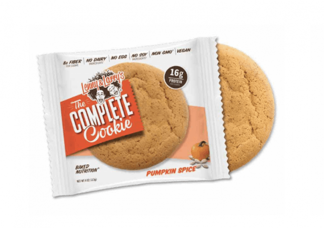 A Lenny & Larry's Pumpkin Spice cookie.
