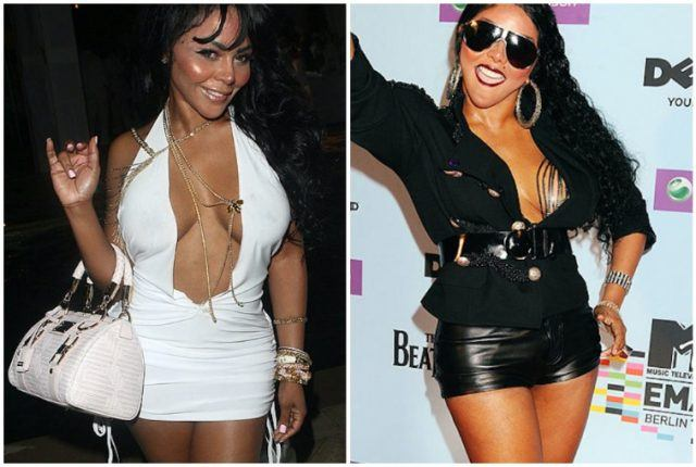 Lil' Kim weight transformation collage