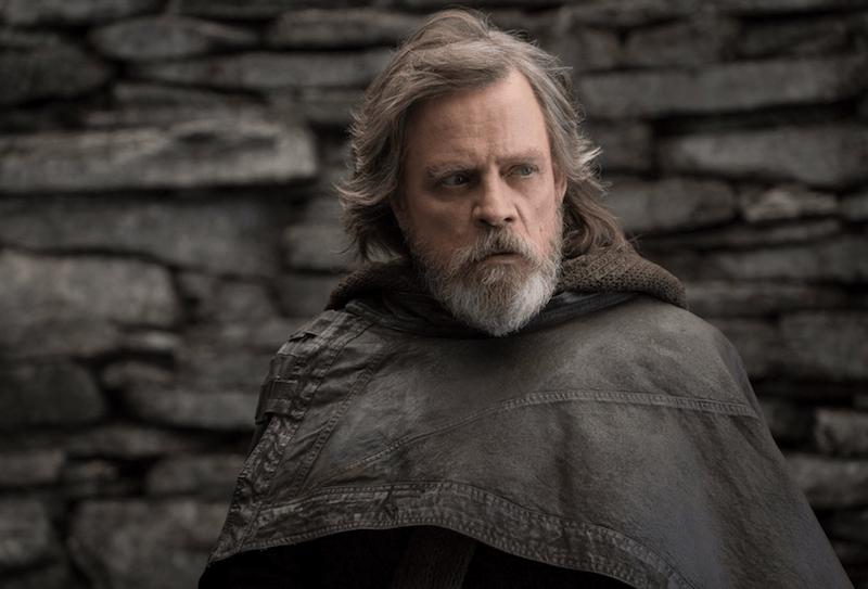 Luke Skywalker looks to the side