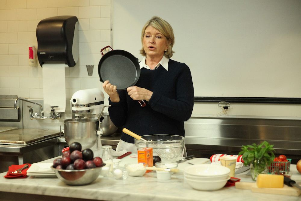 Martha Stewart using Anolon Gourmet Cookware