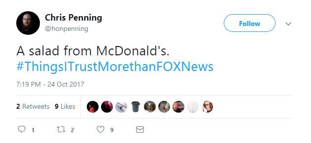 A Tweet about McDonald's