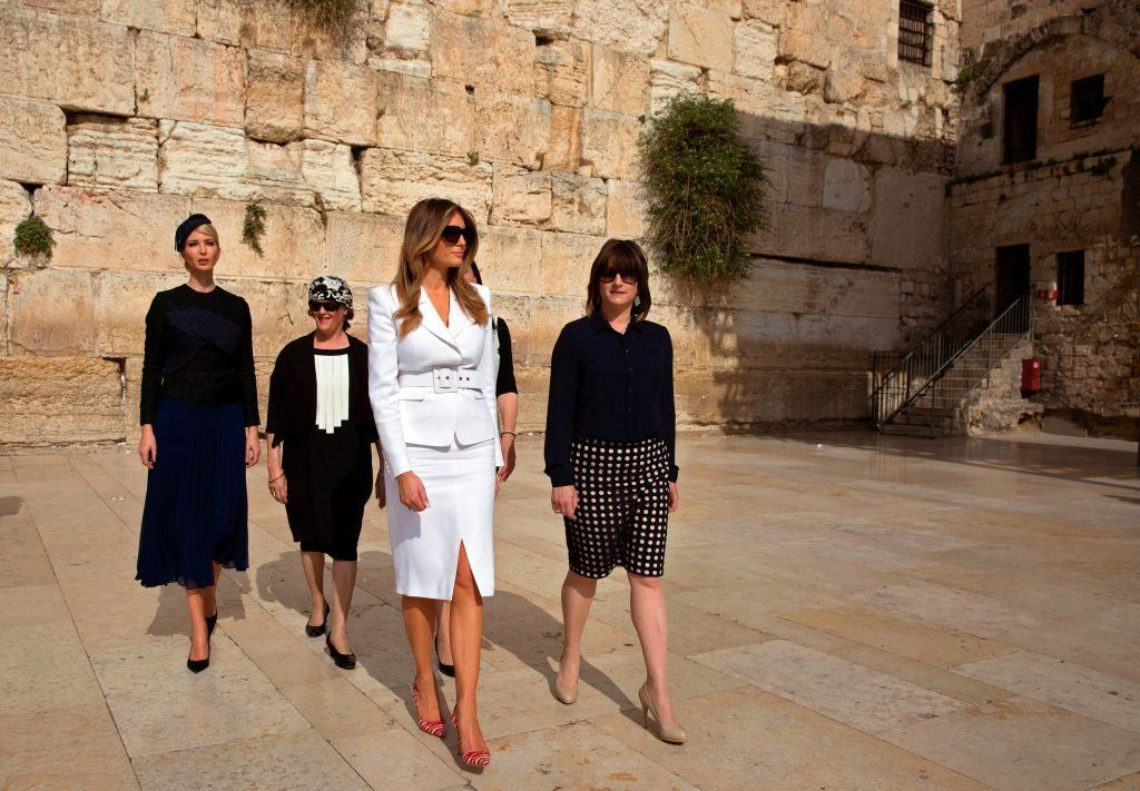 Melania Trump walking in Jerusalem