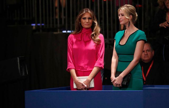 Melania and Ivanka Trump at a debate.