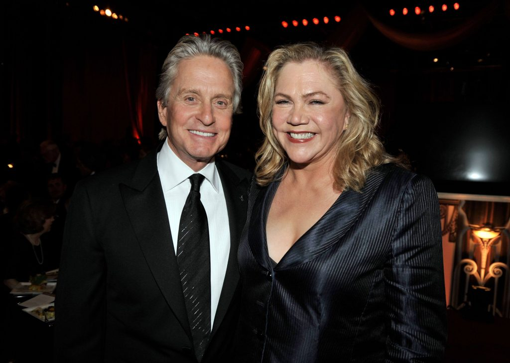 Actor Michael Douglas and actress Kathleen Turner