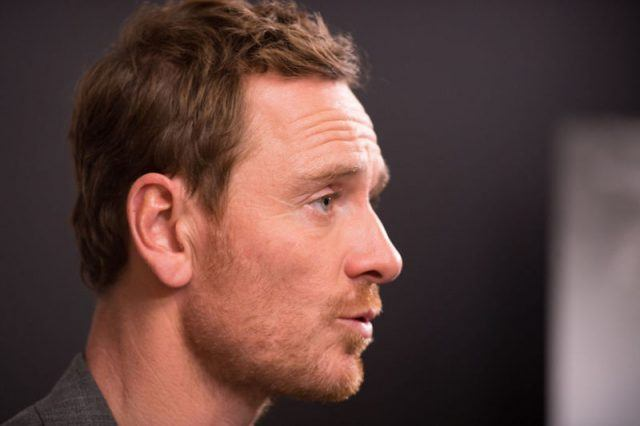 Michael Fassbender looking straight ahead.