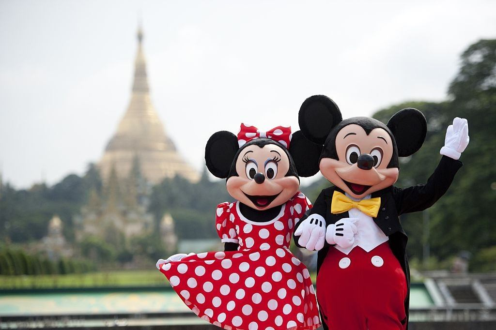Walt Disney characters Mickey and Minnie Mouse