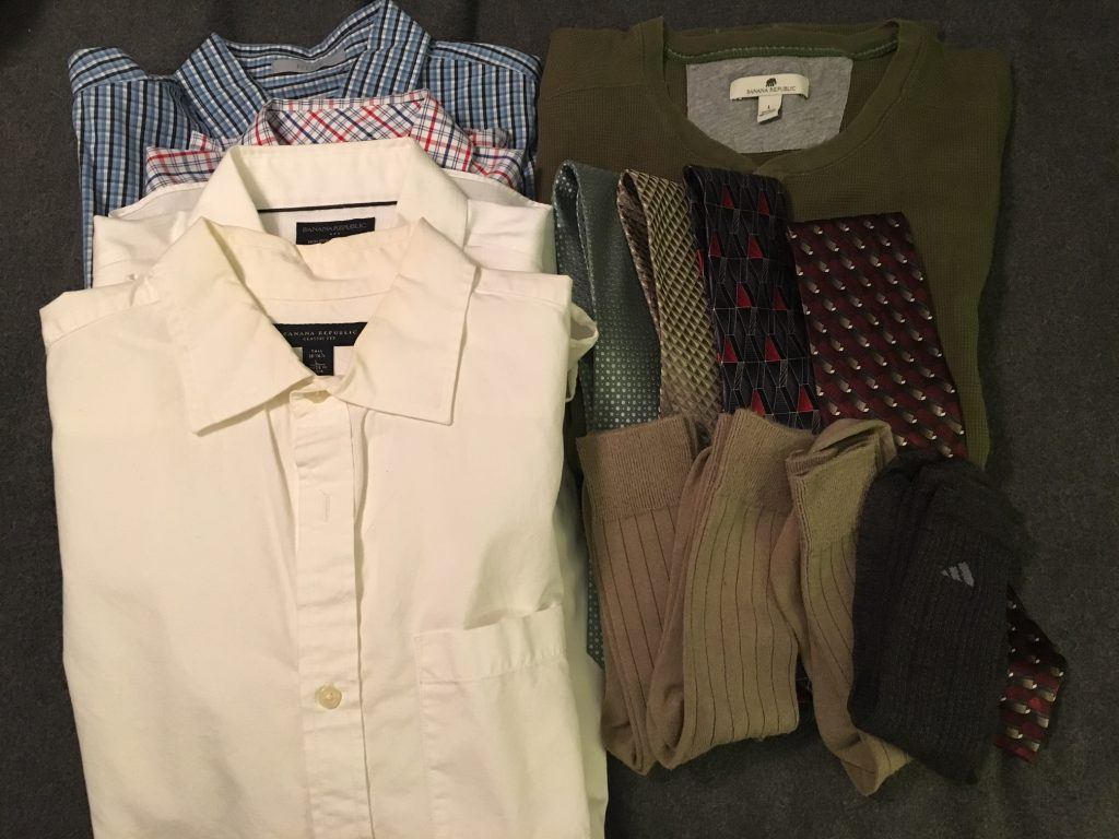 bad ties, ugly socks, and seldom-worn collared shirts