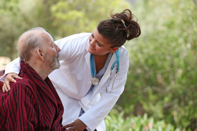 nurse and patient home care