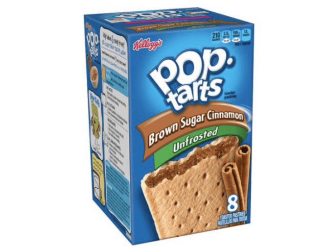 A box of Pop-Tarts behind a white background.