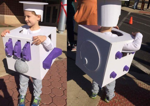 a child dressed as a fidget spinner