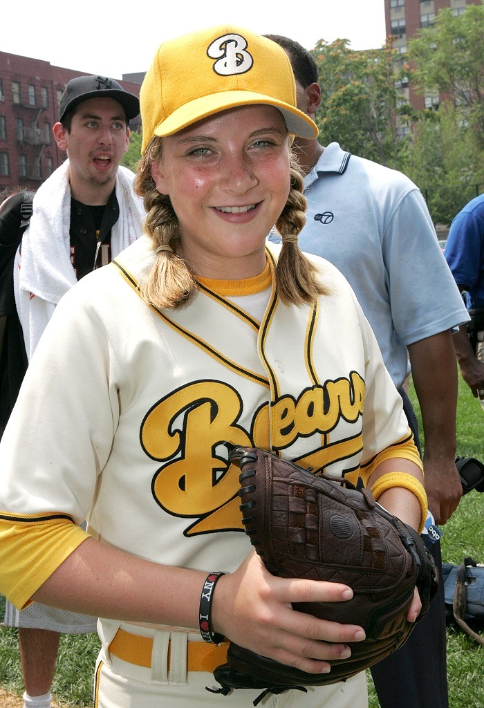 Actress Sammi Kane Kraft trains for her role in Bad News Bears.