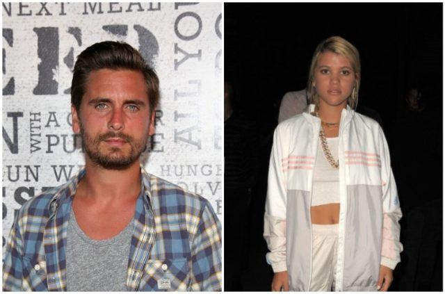 A collage featuring Scott Disick and Sofia Richie.