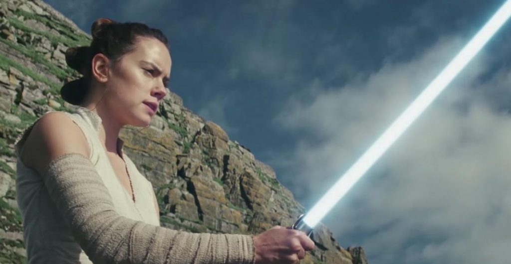 Rey in Star Wars: The Last Jedi