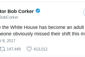 These Trump Tweets Prove He Doesn't Need Corker's Help Destroying His Image