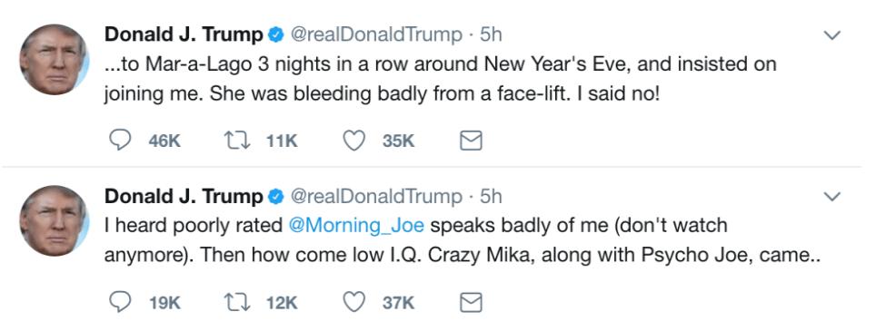 a sexist tweet by Trump