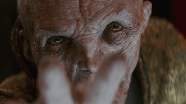 Snoke stretches a hand out