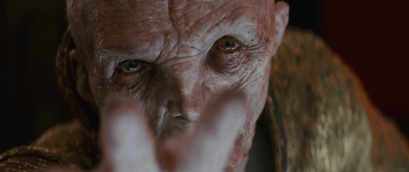 Snoke holds out his hand