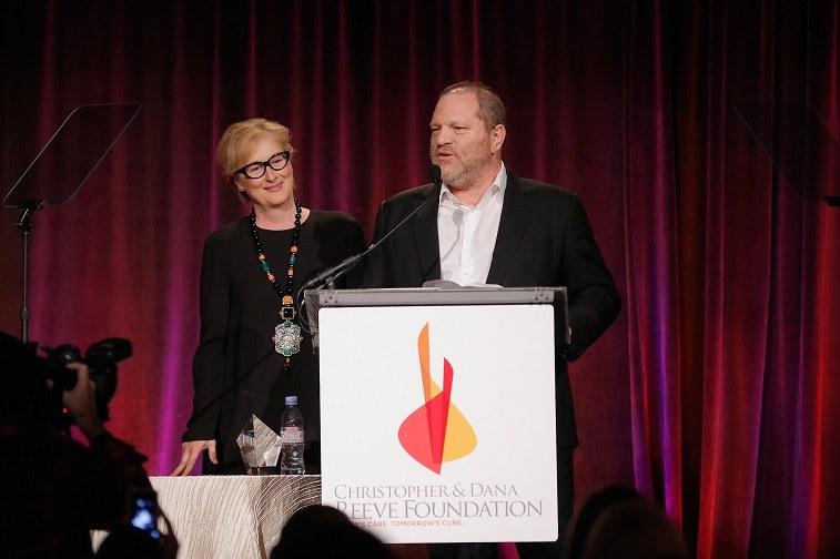 Meryl Streep and Harvey Weinstein speak