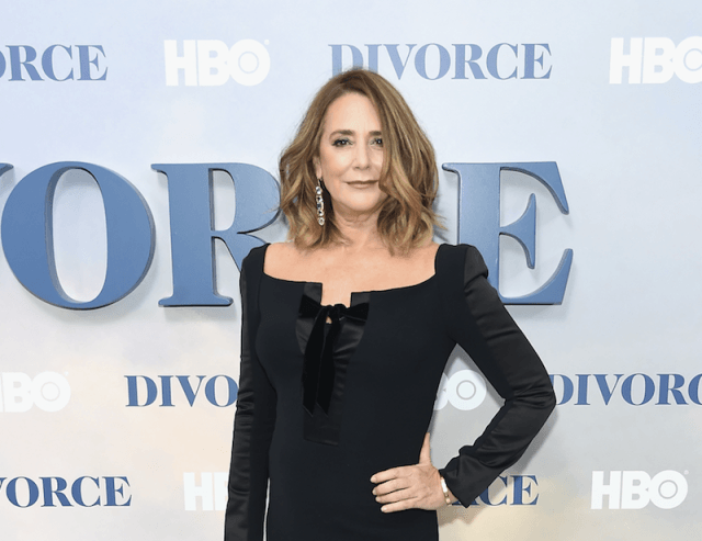 Talia Balsam stands with one hand on her hip at an HBO event.