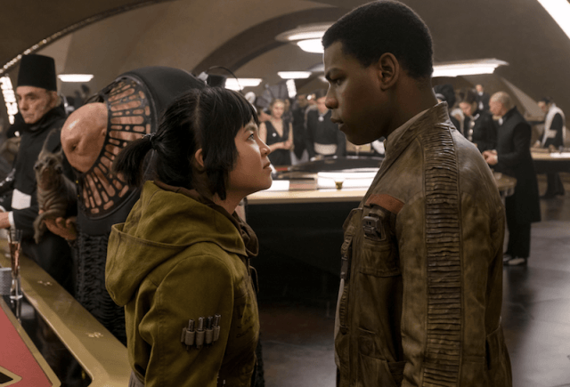 Rose and Finn in 'Star Wars: The Last Jedi' inside a casino.