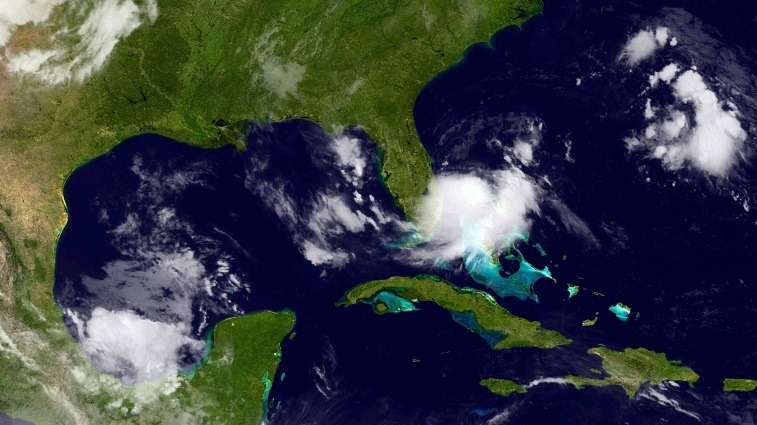 Tropical depression seen from space