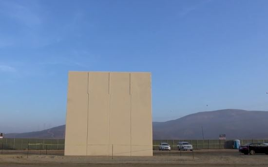Trump wall prototype