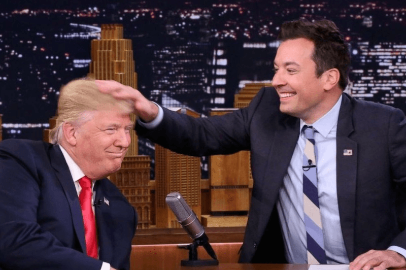 Jimmy Fallon and Donald Trump
