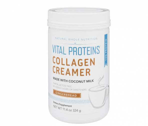Container of Vital Proteins Collagen Creamer.