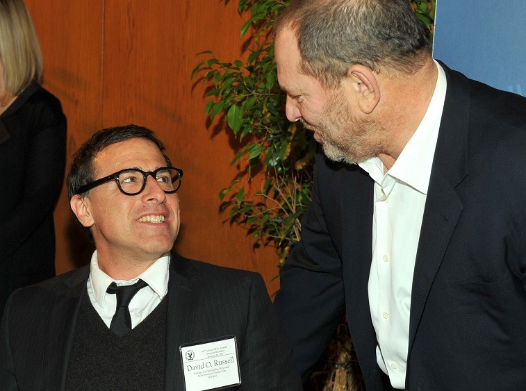 Director David O. Russell and producer Harvey Weinstein