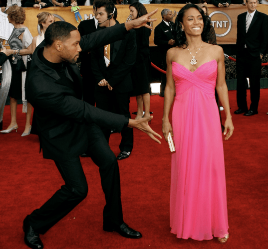 Will Smith shows of his wife Jada Pinkett.