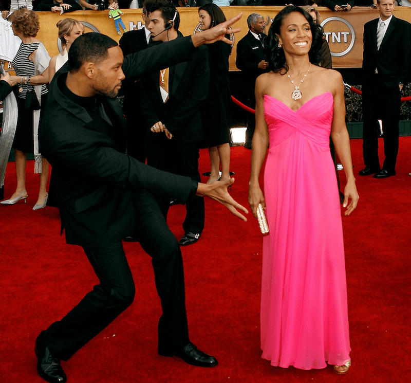 Will Smith and Jada - Happy Kids Tapete