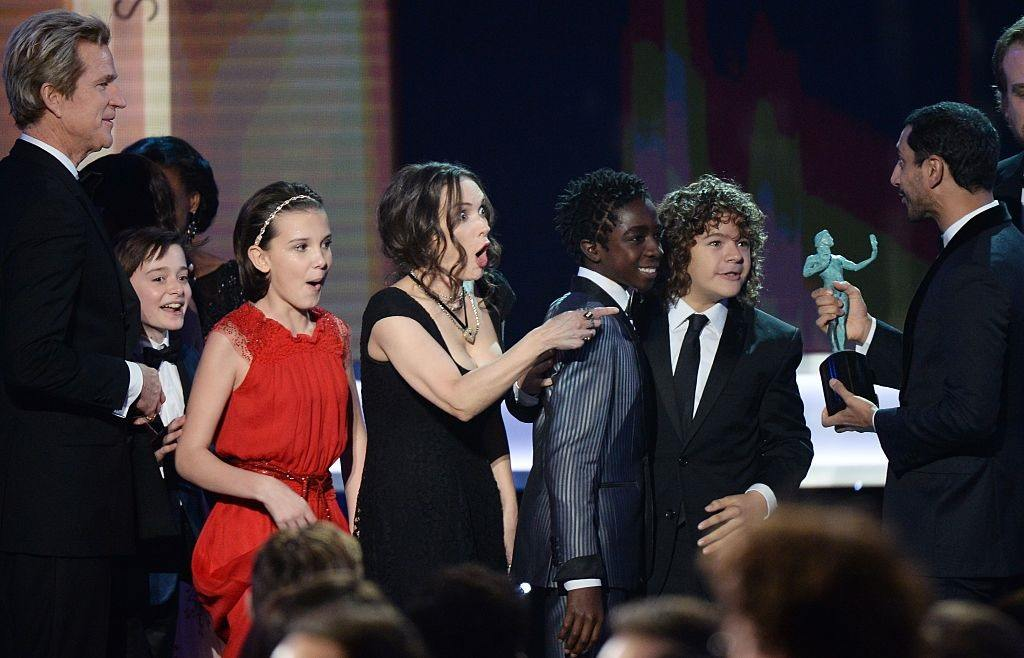 Winona Ryder and cast of 'Stranger Things'