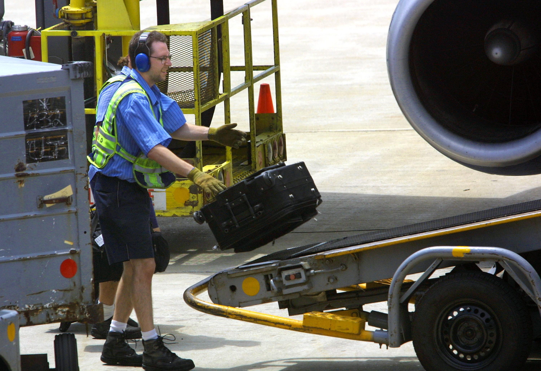 Baggage handler conveyor belt