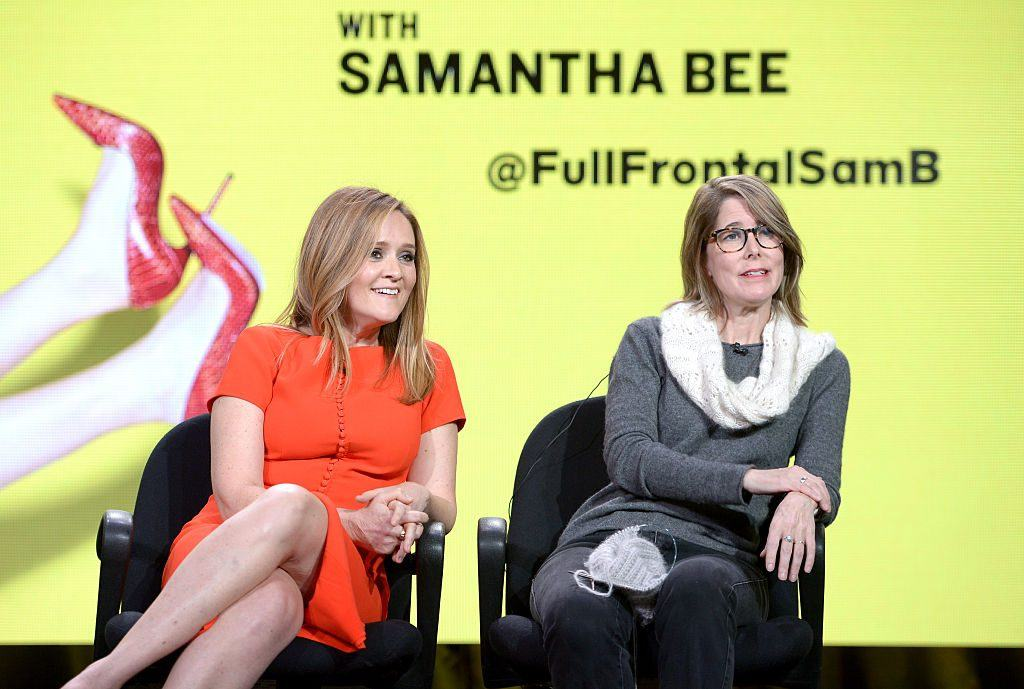 Samantha Bee and Jo Miller at the TCA Turner Winter Press Tour
