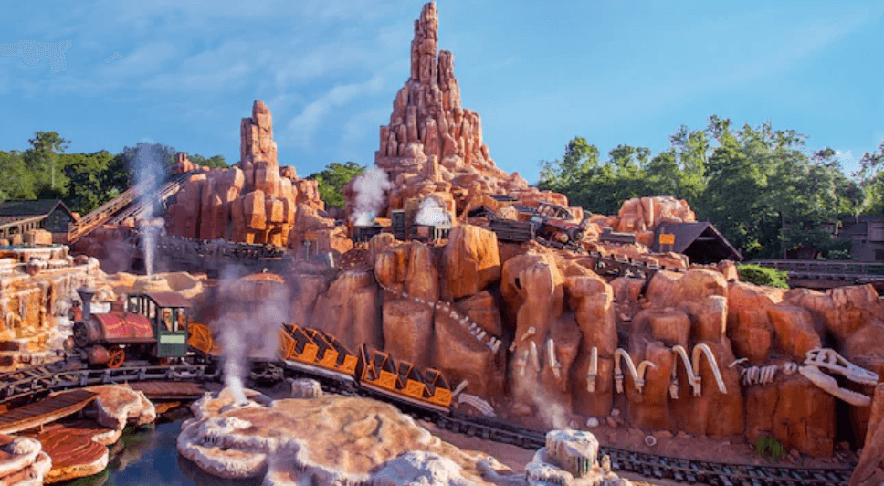 Disney Big Thunder Mountain Railroad roller coaster