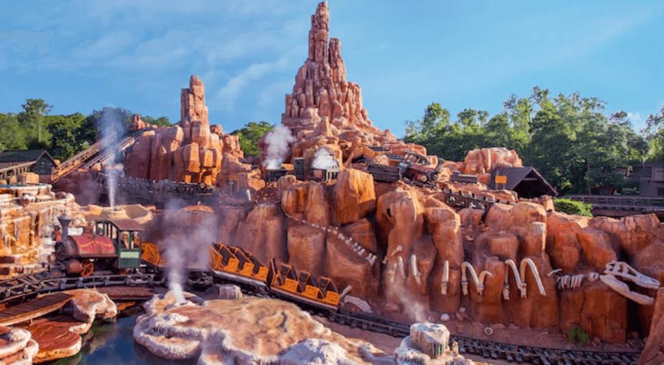 Disney Big Thunder Mountain Railroad roller coaster
