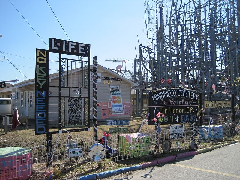 The Mindfield. Artwork by outsider artist Billy Tripp in downtown Brownsville, Tennessee.