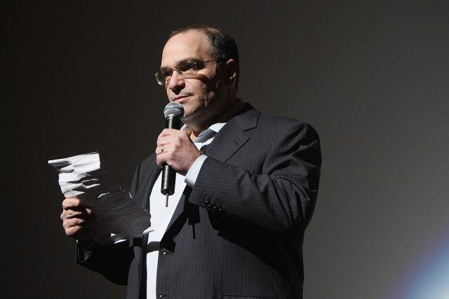 """Bob Weinstein speaks at the world premiere of """"Soul Men"""" at The Apollo Theater."""